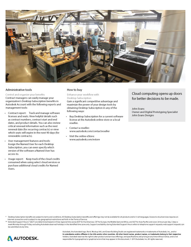 Autodesk Desktop Subscription | Flyer - pg4