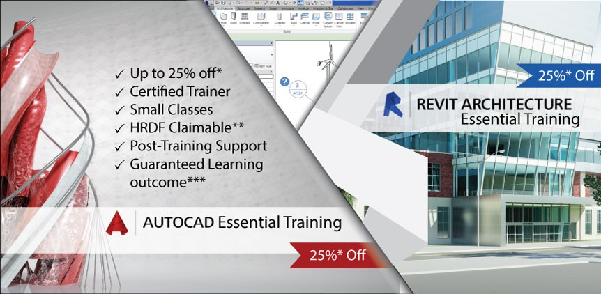 25% off AutoCAD Training & Revit Essential (Arch) Training